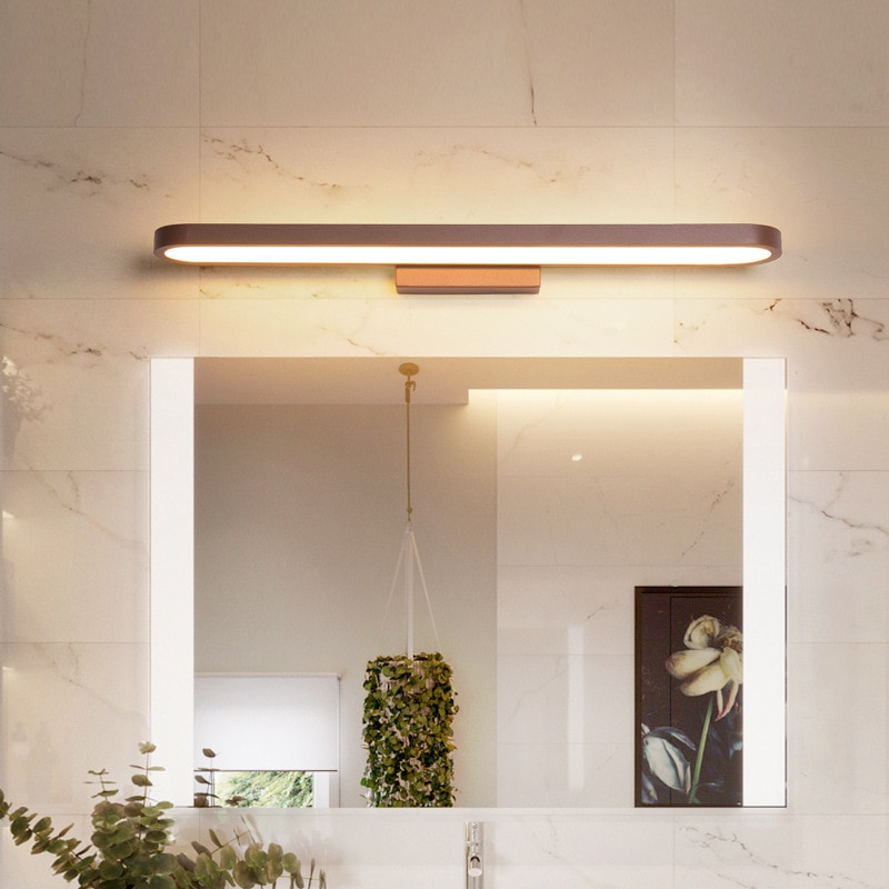 QUKAU led mirror headlight simple and post-modern creative lighting bathroom toilet Nordic mirror headlight