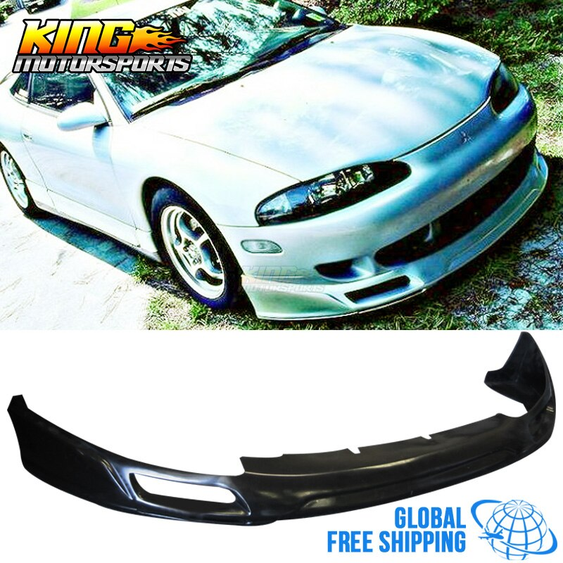 Apto para 95-96 mitsubishi eclipse amortecedor dianteiro lábio spoler bodykit vip estilo plutônio global frete grátis para todo o mundo