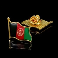 afghanistan national flag epoxy lapel pin badgebrooch for official suit accessories