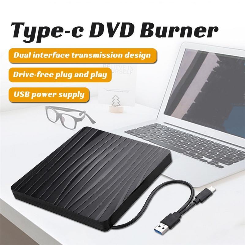 جديد USB 3.0 & Type C DVD محرك الأقراص ، محرك الأقراص المدمجة محرك الأقراص-مجانية عالية السرعة القراءة والكتابة مسجل ، مشغل DVD-RW الخارجية الكاتب القار...