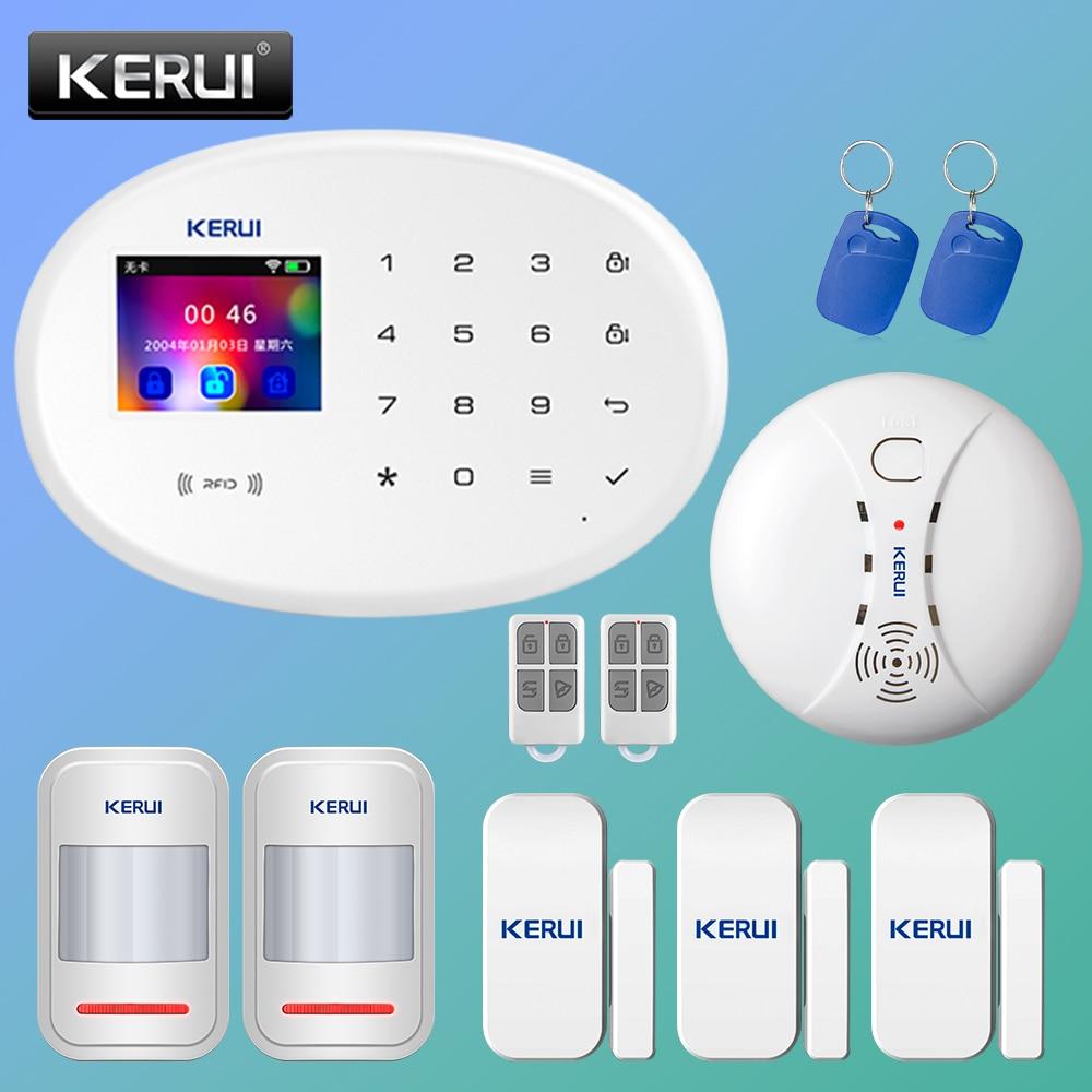 KERUI W20 Smart Alarm System Security Home Alarm Residencial WiFi GSM Wireless 2.4 inch Touch Panel Burglar Alarm System