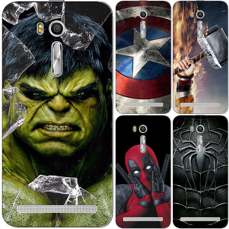 Супергерой чехол для телефона Asus Zenfone Go ZB552KL tv ZB551KL G550KL ZB500kl ZB500KG ZB452KG ZB450KL Супермен задняя крышка