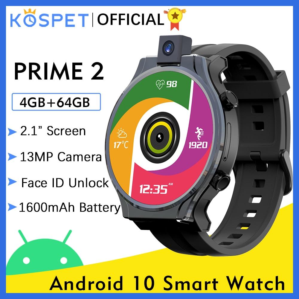 KOSPET PRIME 2 Smart Watch Men 4GB 64GB ساعة ذكية Support Arabic language Watch ساعة رجاليةAndroid 10 4G الساعات الذكية GPS WIFI ساعه ذكيه For Xiaomi huawei Samsung Iphone