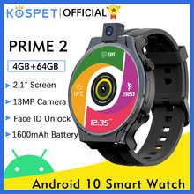 KOSPET PRIME 2 4G Smart Watch Men 4GB 64GB 13MP Camera 1600mAh 2.1