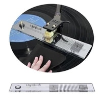pickup calibration distance gauge protractor record stylus alignment lp phono cartridge phonograph vinyl turntable p5s6