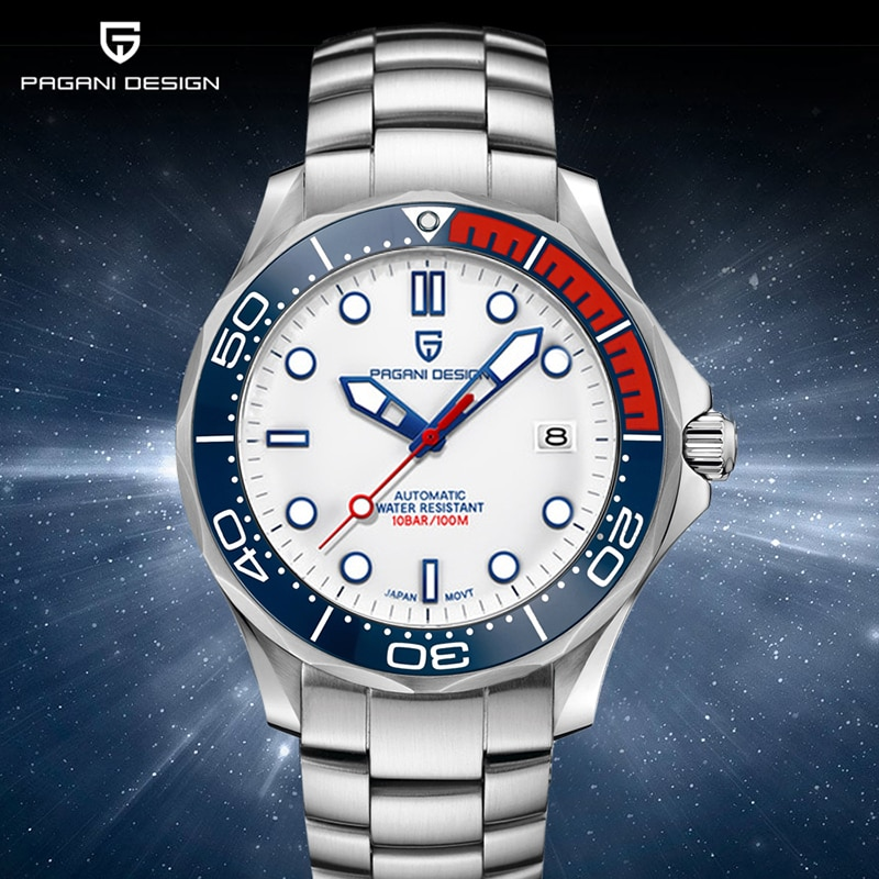 PAGANI DESIGN Top brand 2020 Men automatic watch Fashion 007 men mechanical watches Curved sapphire mirror Waterproof clock NH35 pagani design new 007 commander men s mechanical watches top brand luxury watch men 100m automatic waterproof fashion wristwatch