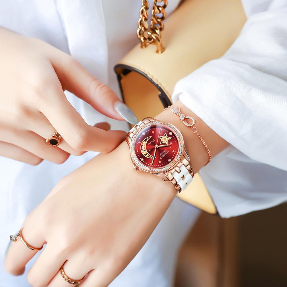 Fashion Automatic Watch Men Fashion USA Luxury Brand Ladies Wristwatch Mechanical Ceramic Hollow Design sapphire montre femme enlarge