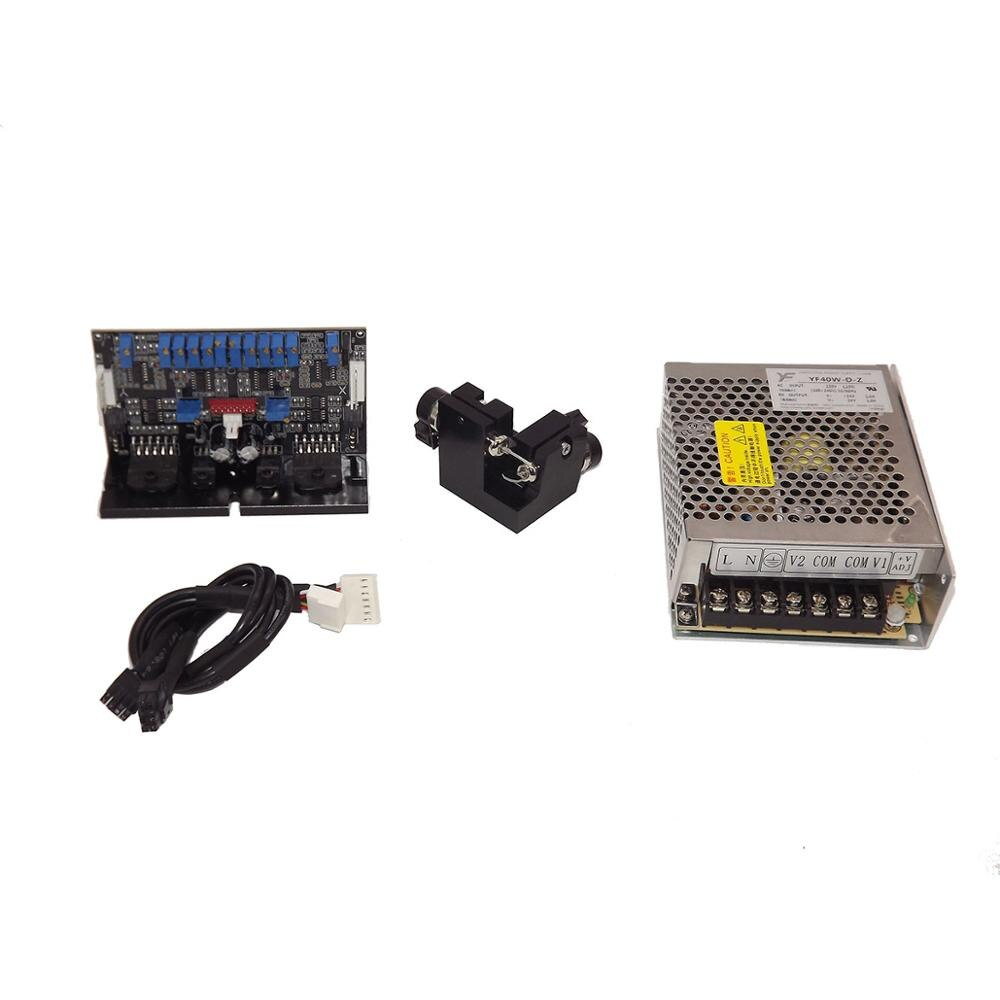 Láser galvanómetro 50kpps láser Galvo escáner conjunto para DMX Dj Disco etapa luz ILDA láser Show GT 50 con fuente de alimentación 24 V DC