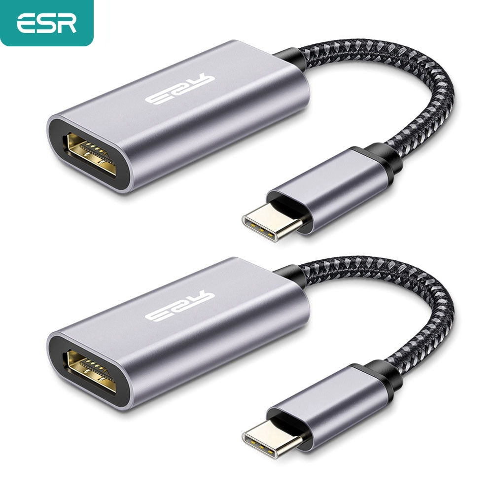 ESR-Adaptador USB tipo C a HDMI, convertidor compatible con USB 3,1, USB-C...
