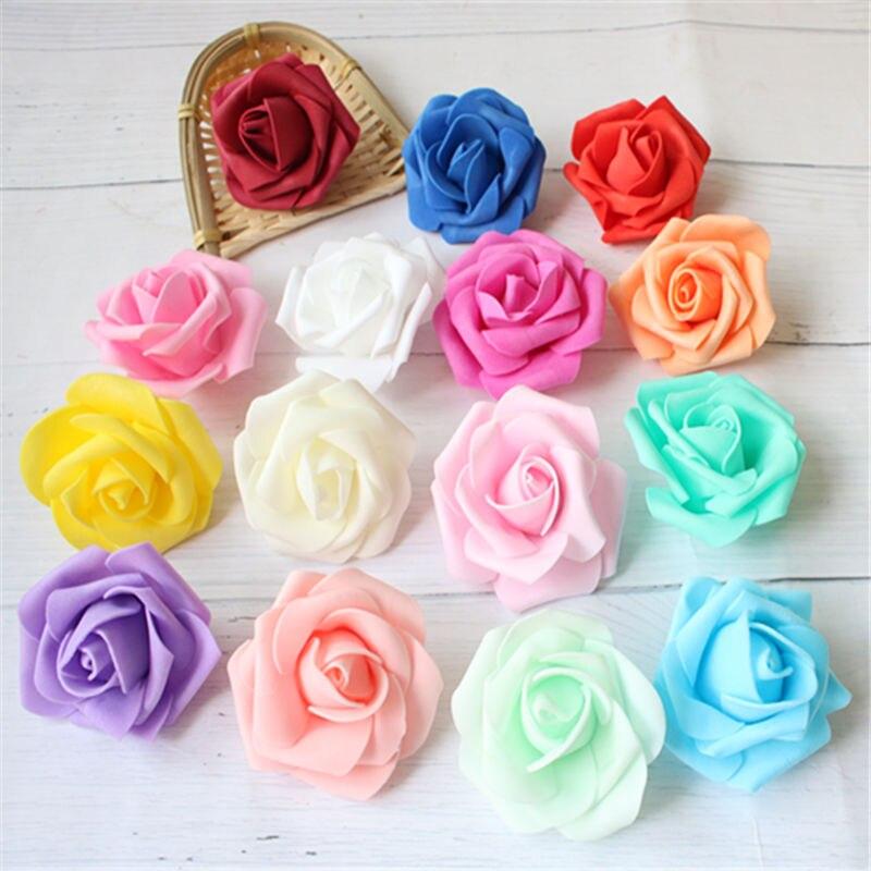 5 uds/6,5 CM nuevo colorido PE Artificial espuma Rosa Flores novia ramo...