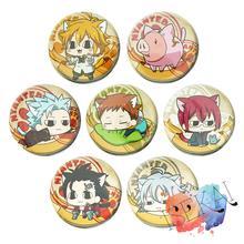 The Seven Deadly Sins Anime Badge Meliodas Ban King Gowther Nanatsu no Taizai Metal Badge Brooch Pins Neko Cat Ver.