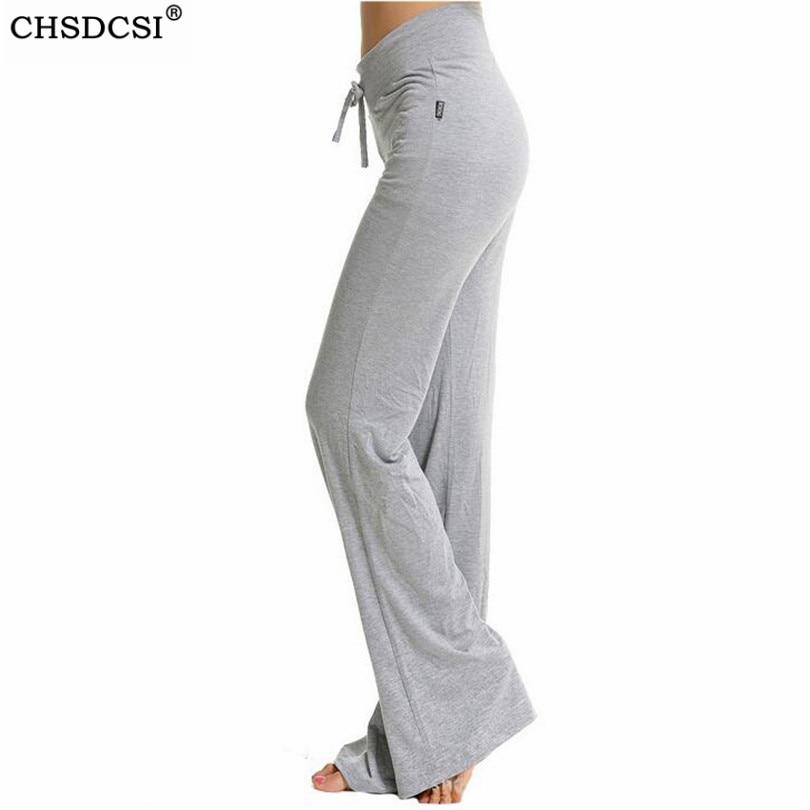 CHSDCSI Sexy Mid Waist Wide Leg Flowy Pants Women 2020 Female Trousers Casual Womens Summer Cotton Beach Long Loose Harem Pants