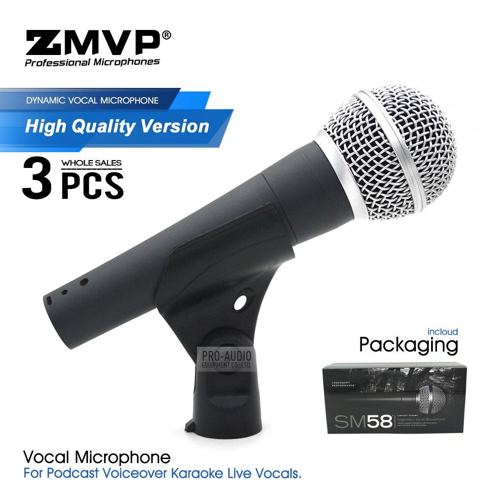 Micrófono con cable SM58LC de alta calidad 3 uds, micrófono de mano...
