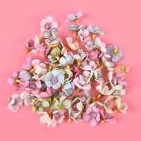 50 pieces ensemble Mini soie Daisy multicolore fausse fleur tete guirlande pas cher decoration bricolage de haute qualite