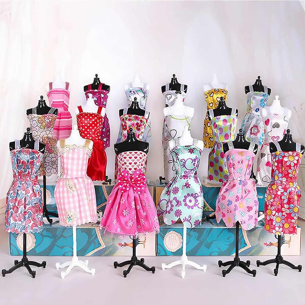 90 Uds ropa paquete de 10 ropa 75 Uds accesorios para muñecas...