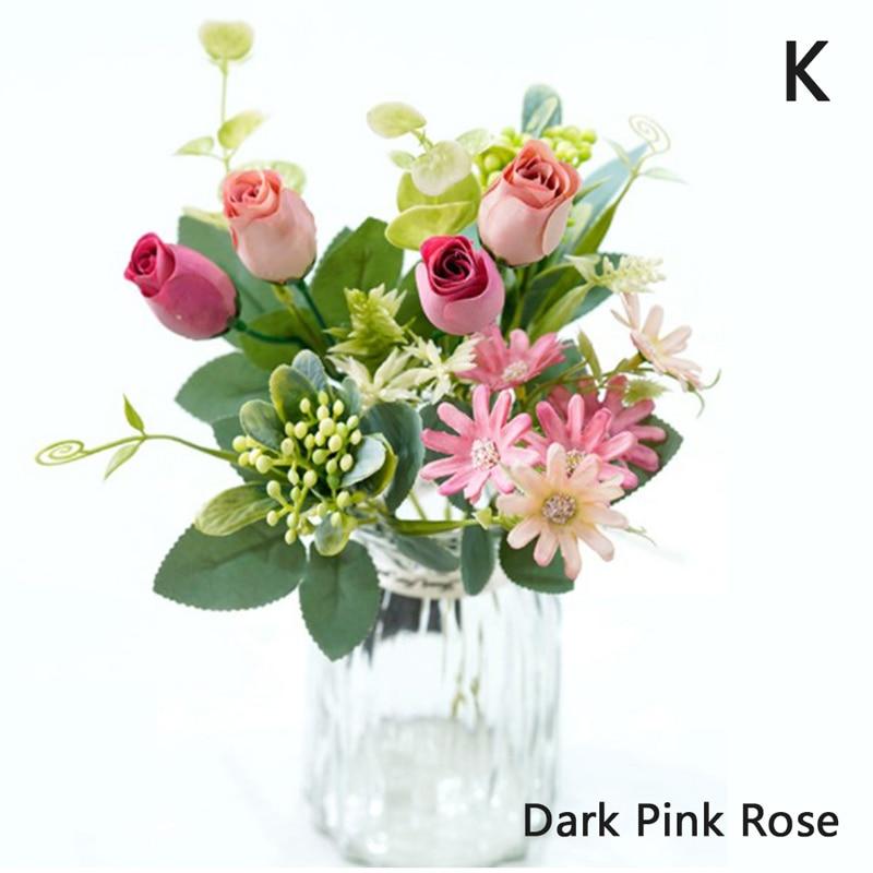 1 Bouquet Camellia Artificial Rose Flowers Silk Fake flowers DIY Decoration