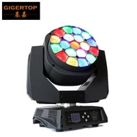 professional stage light 19x15w rgbw 4in1 zoom big bee eye led moving head light for dj disco party light hawkeye honeycomb