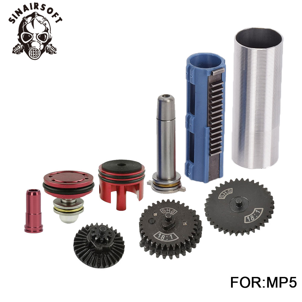 18:1 Gear Cylinder Nozzle Spring Guide 14 Teeth Piston Kit Fit Airsoft MP5 AK M4 G36 For Paintball hunting Accessories