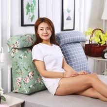 2pcs Large Triangle Cushion Head Big Seat Chair Pillow Office Back Cushions Bed Neck Pillow Sofa Cushion Cojin Home Decor FK007
