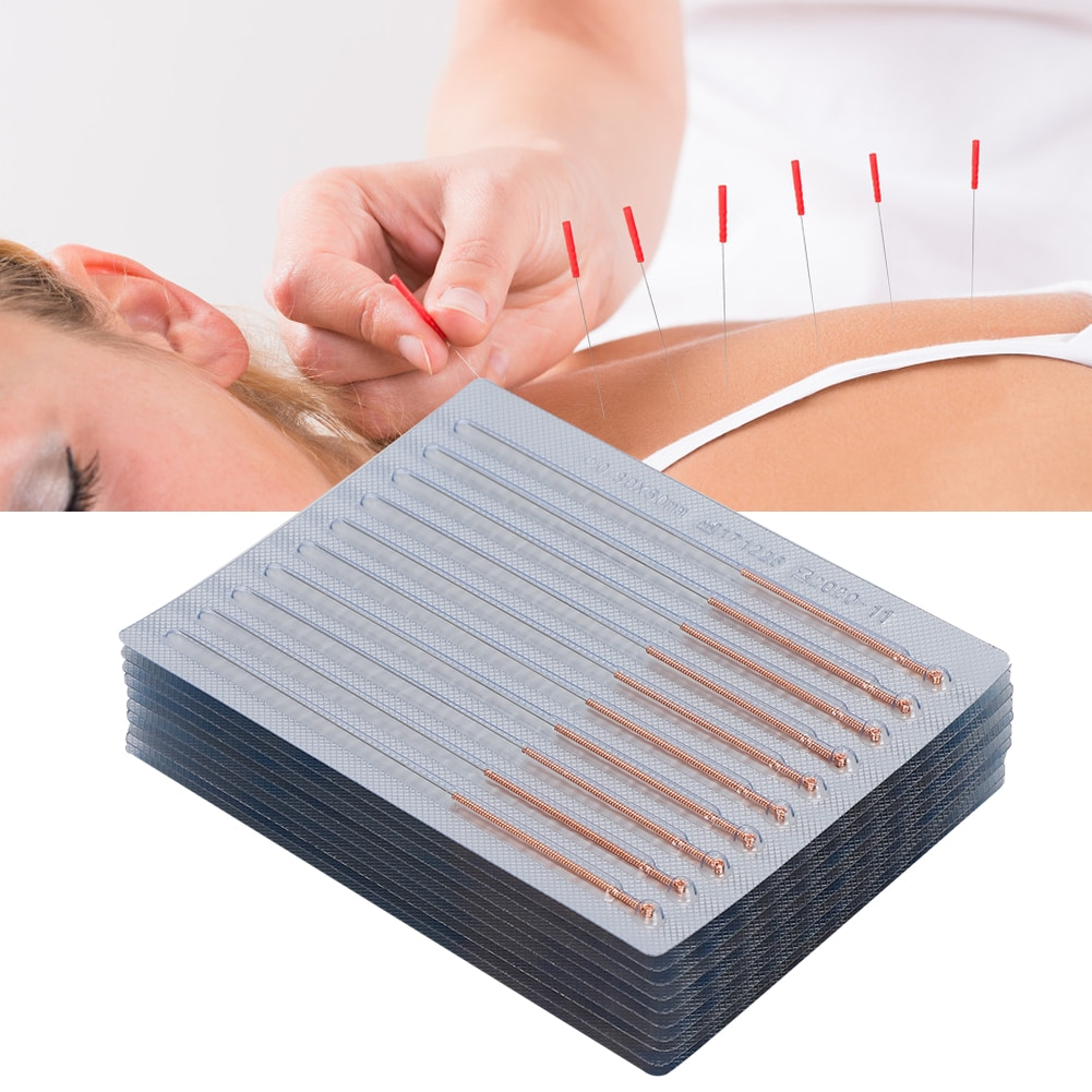 100pcs / box Disposable Sterile Acupuncture Needle Massage Therapy Copper Needle Acupunture Asepsis For Ears Skin Detox Beauty