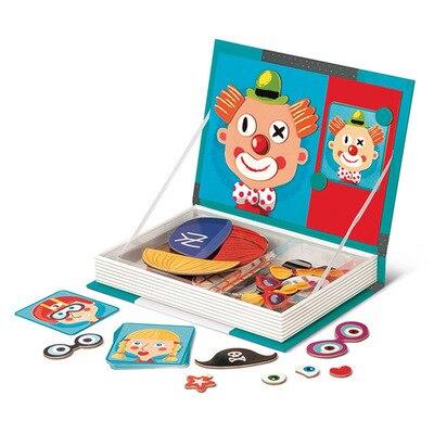 Rompecabezas magnético 3D cara libro cambiar paño Animal espacio Joker educación temprana DIY juego de mesa juguetes regalo para niños niño niña vapor
