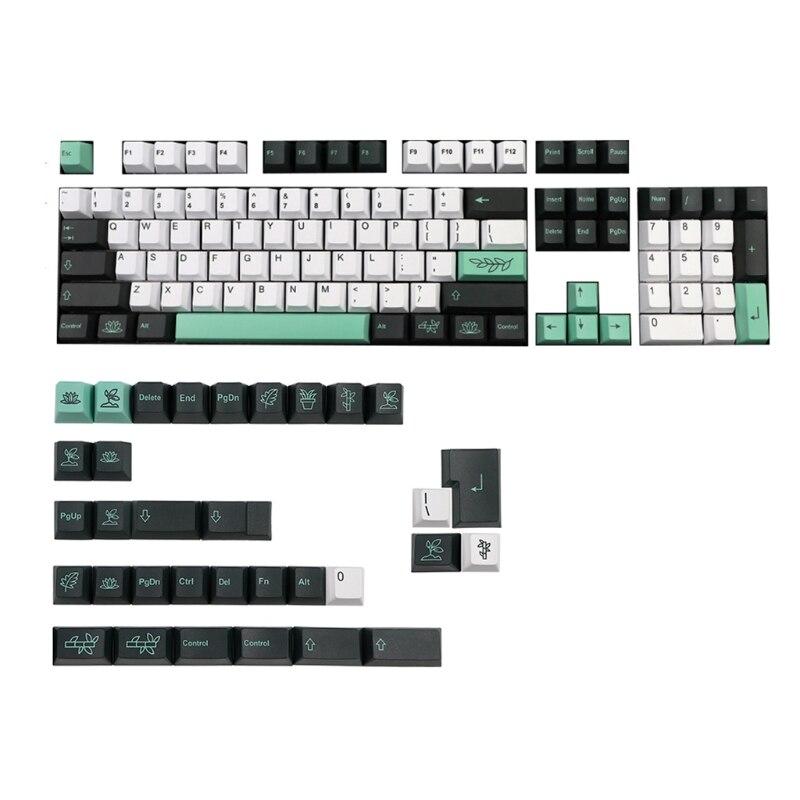 137 مفاتيح PBT Keycap الكرز الشخصي صبغ الفرعية Keycap ل الكرز MX التبديل الميكانيكية لوحة المفاتيح النباتية GK61 64 84 96 تخطيط