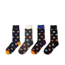 Calcetines a la moda con estampado de puntos de alta calidad para mujer, Calcetines de algodón coloridos para hombre, Calcetines creativos de regalo divertido, Calcetines Skarpetki Harajuku
