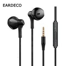 EARDECO Wired Headphones Earphones 3.5mm In-ear Phone Earphone Bass Headphone With Mic Stereo Headset Earbuds for Xiaomi Iphone