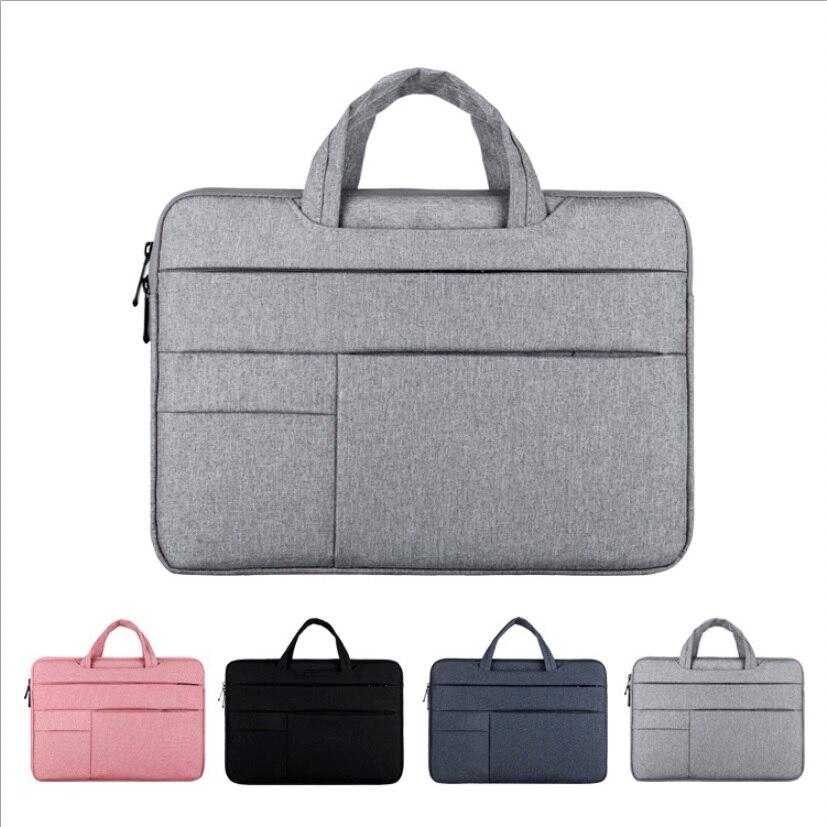 Mens-Womens Laptop Bag 13 14 15 15.6 Waterproof Notebook Case Computer Handbag For Apple Macbook Air ProXiaomi Huawei Briefcase