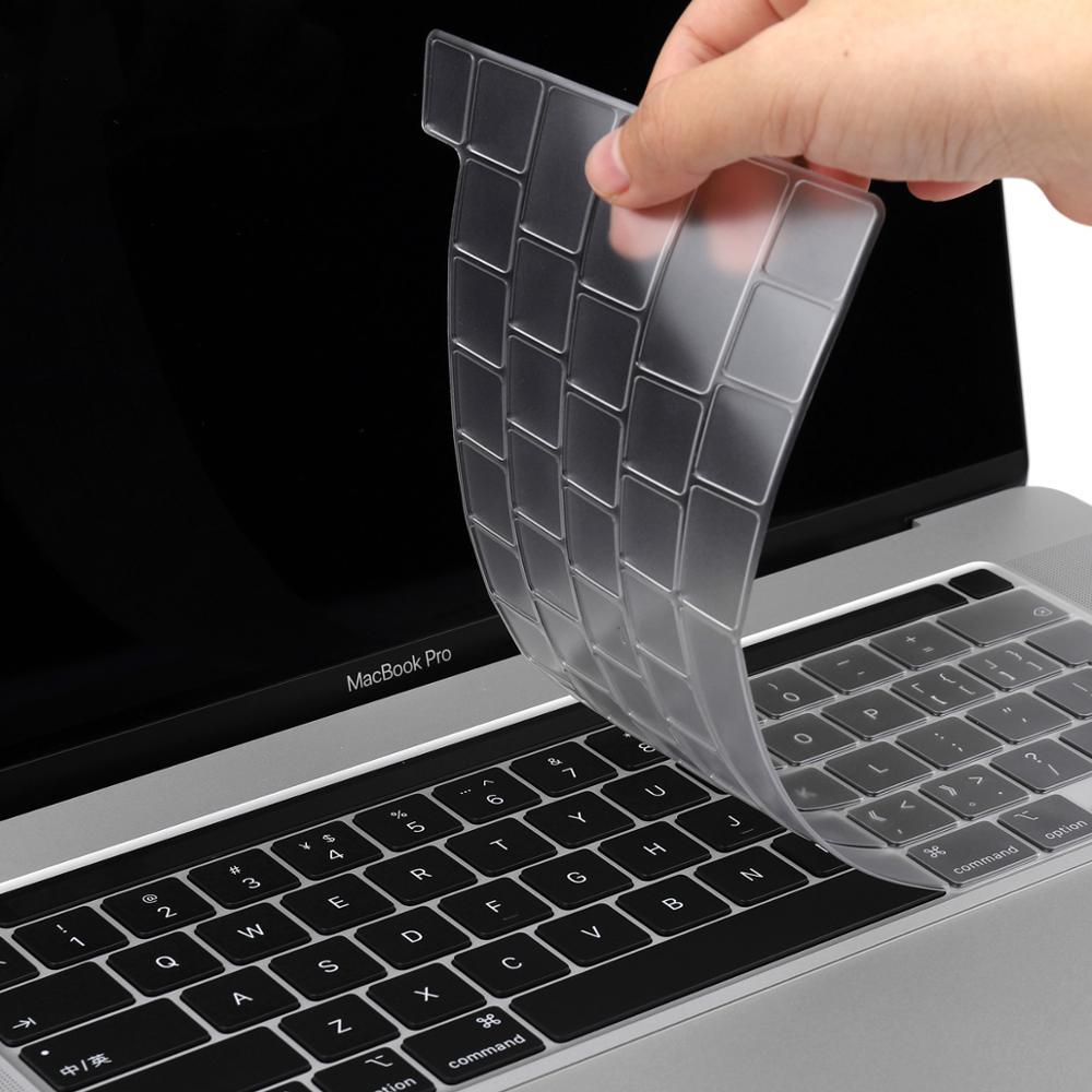 Чехол-клавиатура из ТПУ для Macbook Pro 13 2020 A2251 Pro 16 дюймов 2019 A2141Touch Bar прозрачная клавиатура