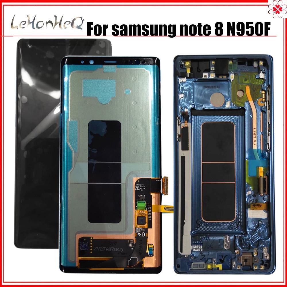 LCD 100% Original para Samsung Galaxy Note 8 N950F N950FD LCD pantalla táctil digitalizador montaje con marco