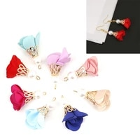 10pcs beads diy buckle torch gold bell clasps flower tassel charm pendant for keychain garment accessories