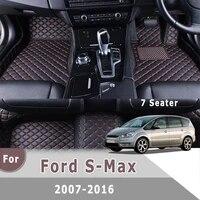 rhd custom car floor mats for ford s max 2016 2015 2014 2013 2012 2011 2010 2009 2008 2007 7 seats car accessories interior rug