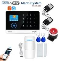 Kit de systeme dalarme de securite domestique intelligent sans fil  GSM  avec cadran automatique  detecteur de mouvement  capteur Anti-cambriolage  SMS antivol