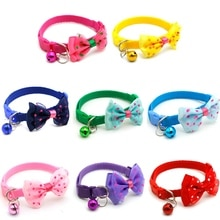 1Pcs Adjustable Pet Bowknot Necktie Collar Cute Bow Tie Bell Kitten Puppy Pets Supplies