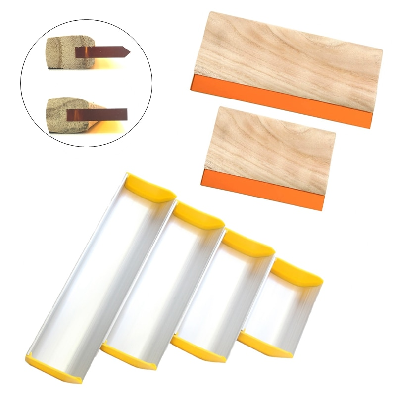 1PC Low Price Discount Silk Screen Printing Squeegee Ink Scraper Aluminum Emulsion Scoop Coater For