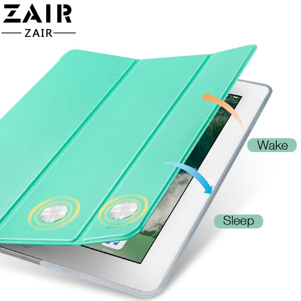 "Tablet flip case for Apple ipad Air 2 9.7"" 2017 2018 Pro cover Smart Sleep wake funda Trifold Stand capa solid for iPad5 iPad6"