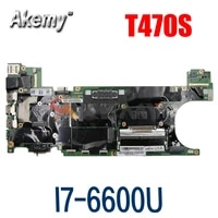 laptop motherboard for lenovo thinkpad t470s sr2f1 i7 6600u mainboard nm b081 01er314