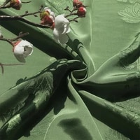 green retro chinese style rayon lotus jacquard fabric for clothing handmade diy material designer fabric decoration