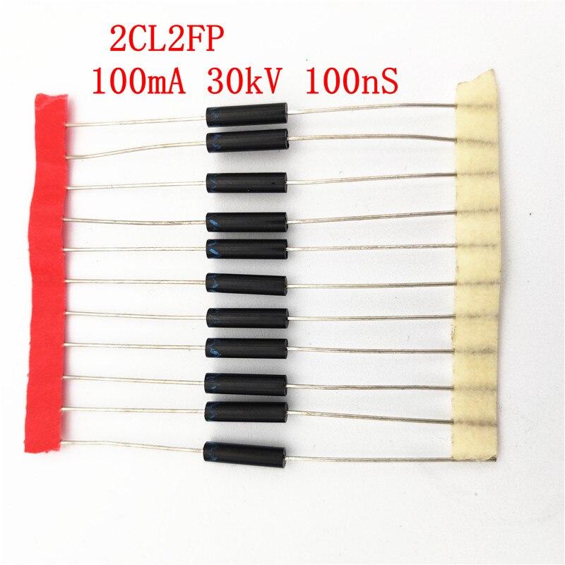 10 قطعة عالية الجهد ديود 2CL2FP عالية الجهد المعدل السيليكون كومة 100mA 30kV 100nS