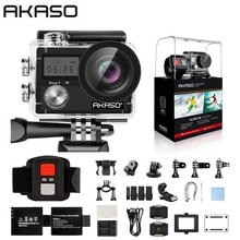 "AKASO cesur 4 eylem kamera Ultra HD 4K WiFi 2.0 ""170D 20MP sualtı su geçirmez kask kamera spor kamerası selfie sopa hediye"