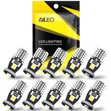 AILEO 10Pcs T10 LED Lights 3030 SMD W5W LED Bulb Canbus No Error Car Interior Lighting Automotive Do