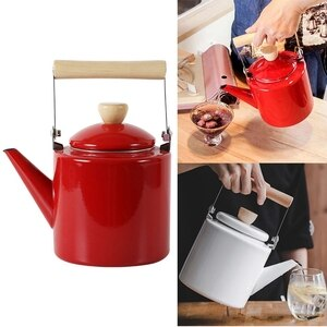NEW-Enameled Kettle Japanese Style Teapots 2 Litre for Halogen Most Stovetops Kungfu Tea Pots