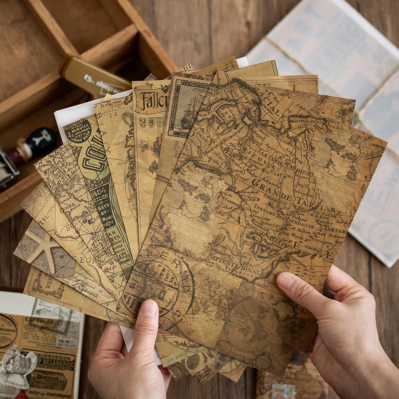 10-pz-lotto-retro-vintage-set-scrapbook-materiale-kraft-sticky-notes-mappa-ufficiale-planner-pacchetto