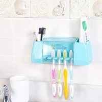 Distributeur automatique de dentifrice  ensemble daccessoires de salle de bains  support mural de rangement de brosse a dents