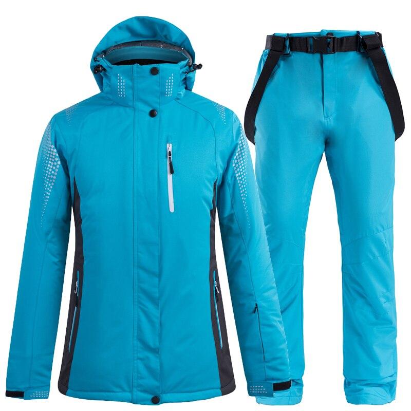 куртка zimtstern snow jacket vega men blue dark grey -30°C Blue pure colors Women Men Snow Ski Suit Wear Snowboard Clothing Winter Waterproof Costumes Skiing Jacket + Snow bibs Pant
