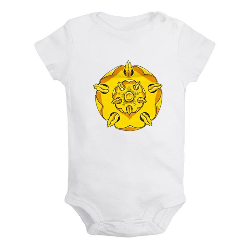 Oro rosa Juego de tronos casa Bandera de Tyrell diseño bebé recién nacido niños niñas trajes de mono de bebé mono ropa