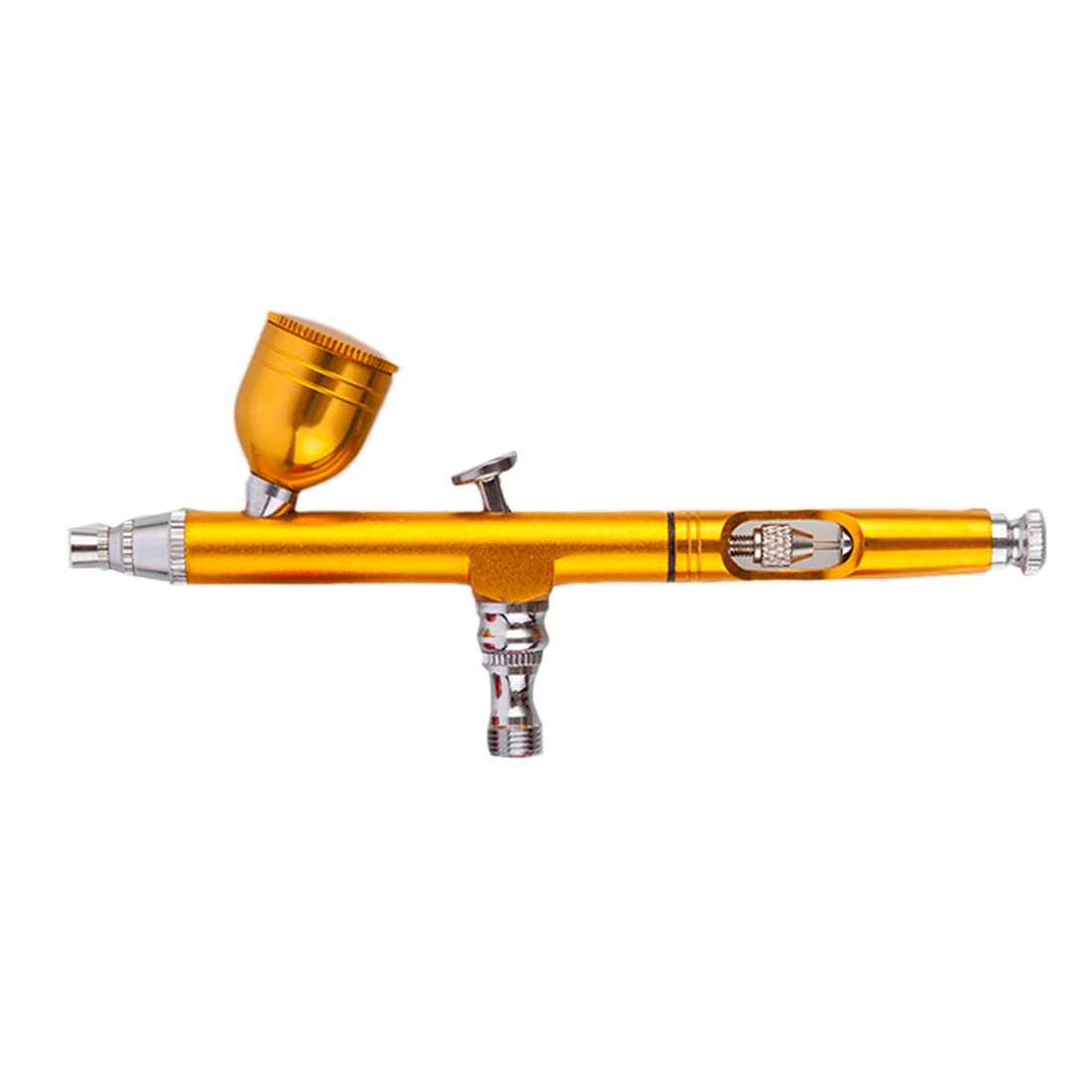 AR130 Mini Kit de aerógrafo, pluma de aerógrafo, herramienta de pulverizador para modelo de maquillaje, estampado de tatuajes, amarillo