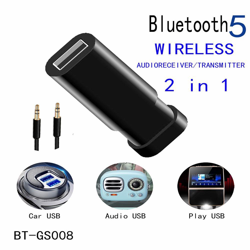 Easvita 2 en 1 Adaptador USB Bluetooth 5,0 receptor transmisor de Audio inalámbrico para TV ordenador Coche Multi-media