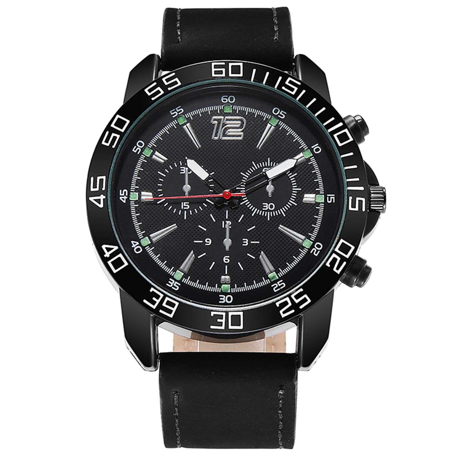 Quartz Watch Bracelet Set Green Dial Simple Luminous Watches,Men's Watches,Men's Outdoor Multi-Funct